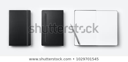 schwarz · Stift · Notebook · Foto · erschossen · Business - stock foto © jirkaejc