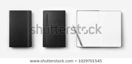 Stock foto: Schwarz · Stift · Notebook · Foto · erschossen · Business