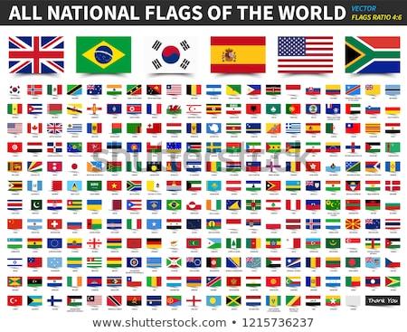 bandeiras · diferente · países · vento · céu - foto stock © creisinger