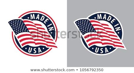 USA banderą wiatr płytki dziedzinie Zdjęcia stock © creisinger