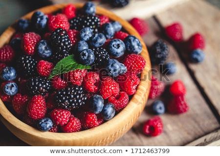 Tazón bayas frutas azul desayuno postre Foto stock © M-studio