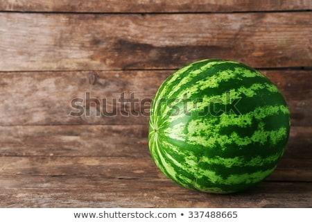 friss · görögdinnye · fa · asztal · érett · szeletel · fehér - stock fotó © keko64