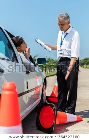 Angry man with traffic cone Stock photo © photography33