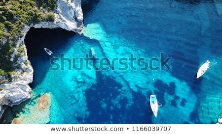 Tájkép azúr tenger kövek égbolt víz Stock fotó © RuslanOmega