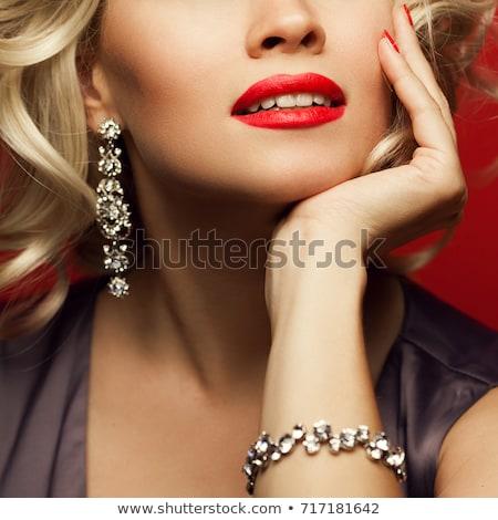 Hand armband schouder vrouw mode Stockfoto © imarin