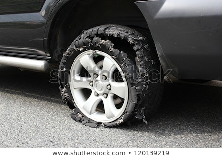 wheel after tire explosion Stock photo © taviphoto