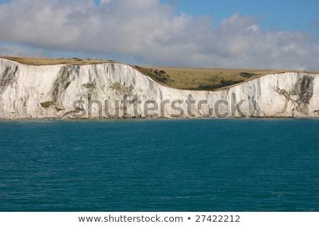 tekne · beyaz · uçurum · parlak · okyanus · mavi · gökyüzü - stok fotoğraf © timwege
