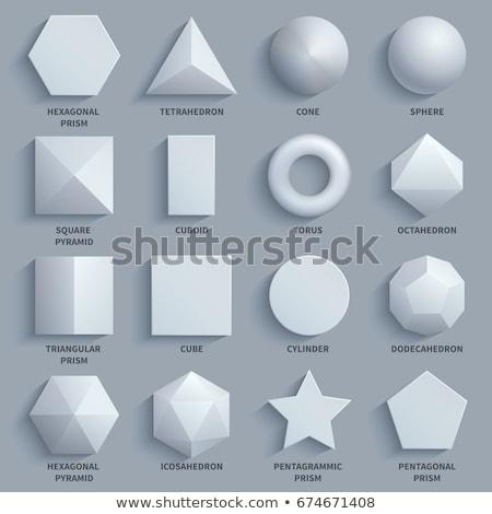 Kockák csillagok piramisok 3D mértani formák Stock fotó © cidepix