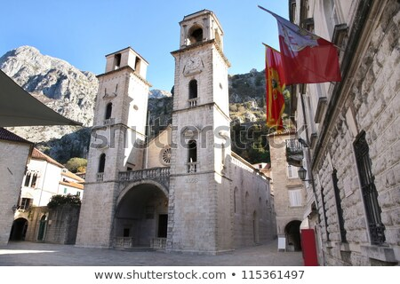 oude · binnenstad · voetganger · straten · Montenegro · stad · historisch - stockfoto © vladacanon