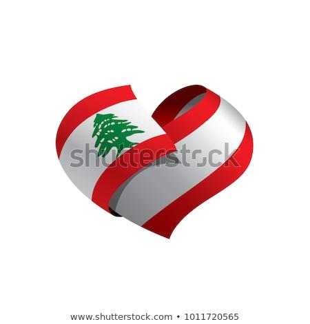 地図 · レバノン · 詳しい · 実例 · フラグ · eps10 - ストックフォト © perysty