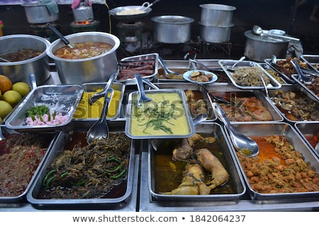 Myanmar Burma Yangon Asia cuisine curry food Stock photo © travelphotography