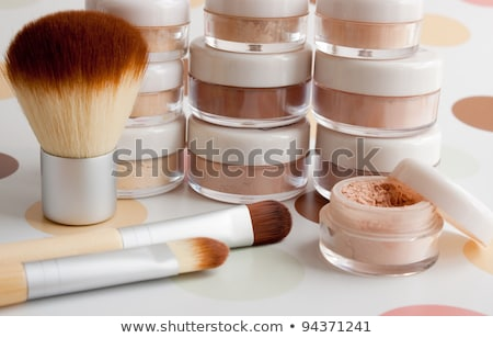makeup foundation powder bronzer and brushes stock photo © tannjuska