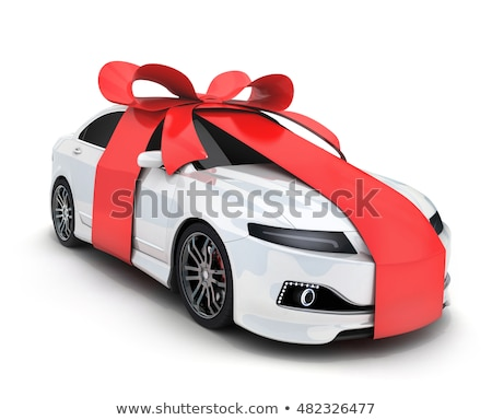 Araba hediye kırmızı dantel Stok fotoğraf © idesign
