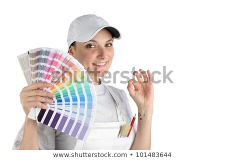 Ressam seçilmiş renk ev kız inşaat Stok fotoğraf © photography33