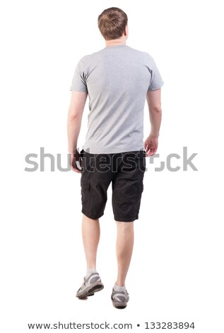 Young black man standing on steps looking right stock photo © Schmedia