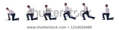 Térdel üzletember kezek férfi munka igazgató Stock fotó © photography33