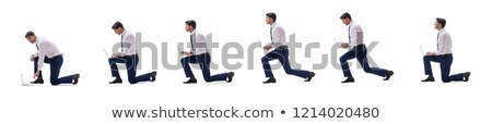 Kneeling businessman Stock photo © photography33
