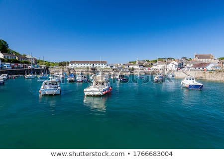 porthleven harbour view stock photo © mosnell