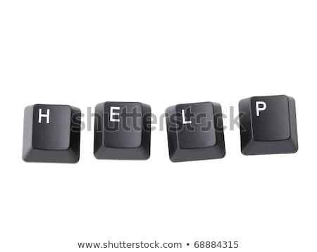 черный · клавиатура · помочь · слово · интернет · контакт - Сток-фото © fotoscool