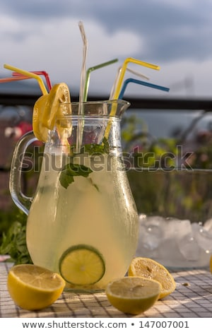 cool lemonade on a hot summer day stock photo © sandralise