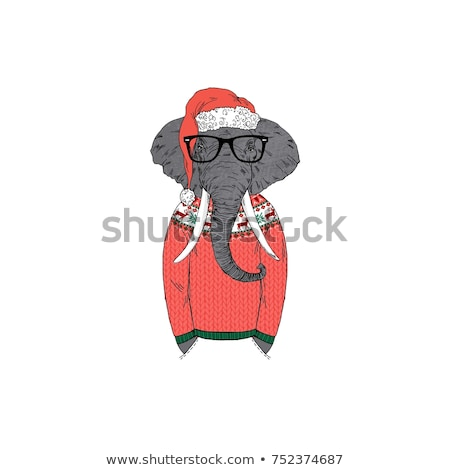 christmas elephant stock photo © pcanzo