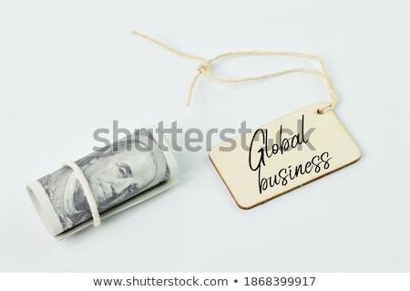 business · geschreven · bankbiljetten · witte · ontwerp · brief - stockfoto © pterwort