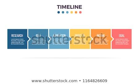vecteur · progrès · six · étapes · modèle · une - photo stock © pixxart