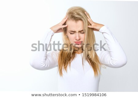 головная боль Постоянный белый женщину Sexy Сток-фото © wavebreak_media