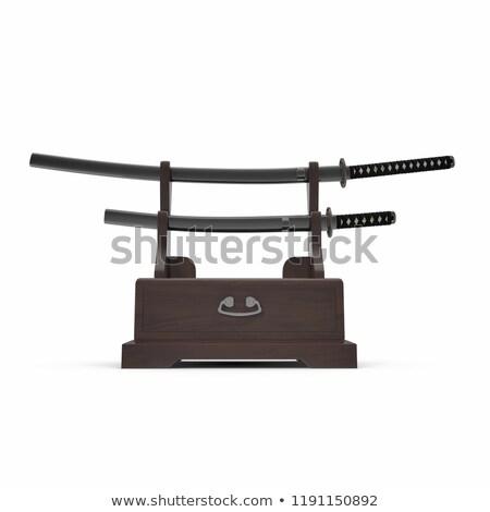 Samurai sword on a stand Stock photo © shutswis