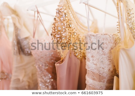 Glitter dresses in a closet/store Stock photo © gsermek