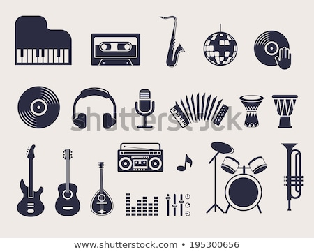 Land muziek iconen selectieve aandacht gitaar voorgrond Stockfoto © Gordo25