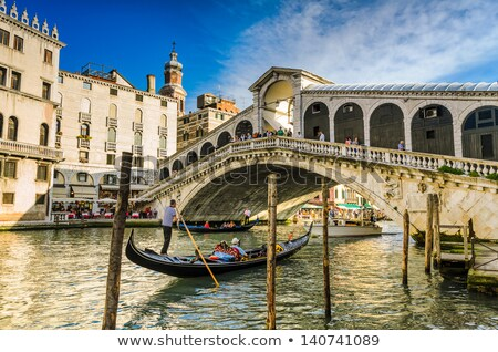 Rialto Bridge with Gondola in Venice Stock photo © SamoPauser