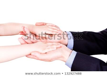Foto stock: Criança · mão · confie · apoiar · isolado