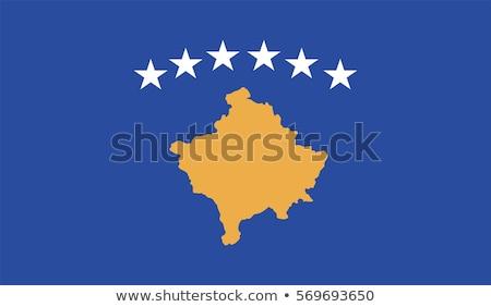 Bandeira Kosovo sombra branco fundo preto Foto stock © claudiodivizia