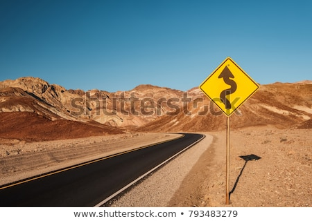 Drive weg dood vallei natuur woestijn Stockfoto © meinzahn