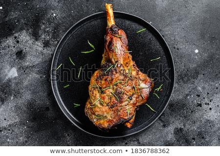 láb · bárány · kész · főzés · rozmaring · fokhagyma - stock fotó © jarp17
