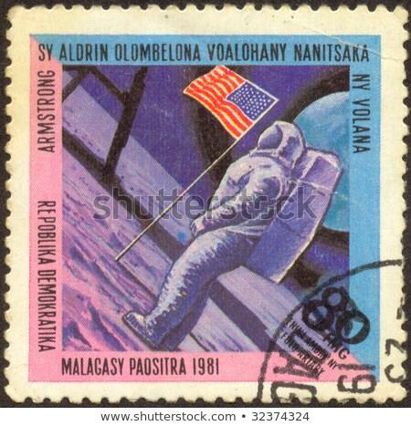 Première homme lune USA vintage Photo stock © Snapshot
