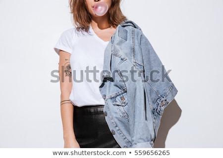Jeans jas details mode kleding kleding Stockfoto © Stocksnapper