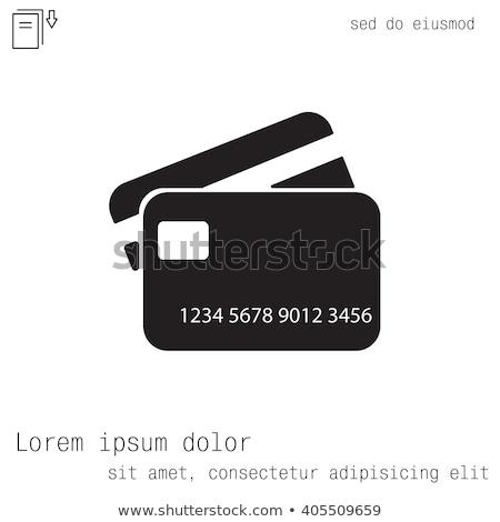 кредитных дебетовая карточка монетами изолированный белый бизнеса Сток-фото © kuligssen