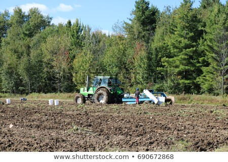 Seeding machine on the uncultivated field Stock photo © CaptureLight