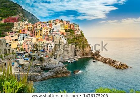 村 急 崖 イタリア 空 水 ストックフォト © anshar
