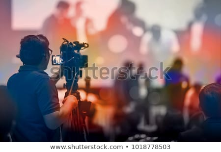 Photo stock: Tv · place · affaires · sourire · homme · télévision