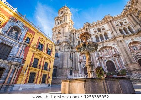 sala · España · ciudad · cielo · edificio · reloj - foto stock © nito