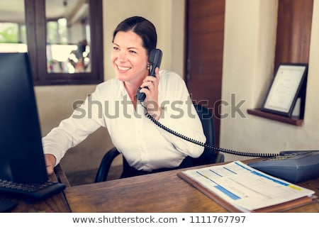 Phone Receptionist Stock photo © ArenaCreative