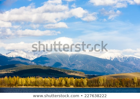 Stock photo: Liptovska Mara with Western Tatras at background, Slovakia
