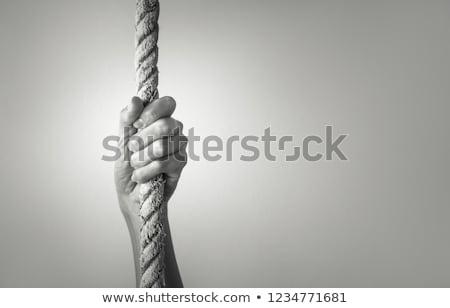 Strak touw handen donkere Stockfoto © stevanovicigor