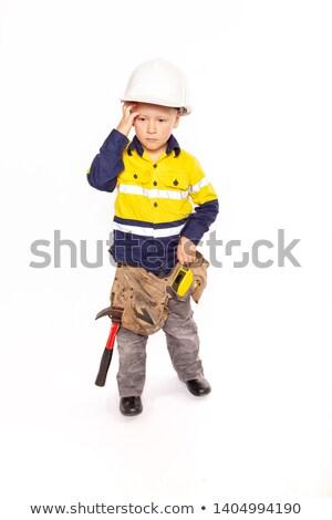 Fej férfi doboz kék ipar szolgáltatás Stock fotó © photography33