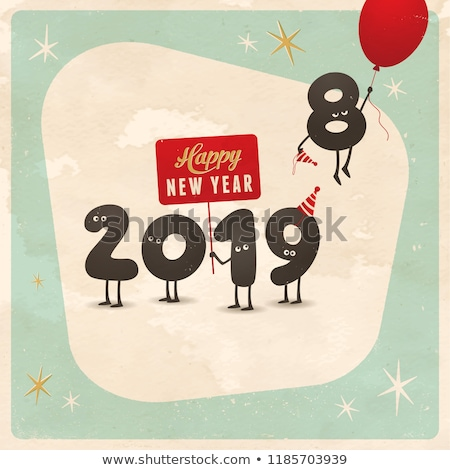 happy new year with a retro effect Stock photo © nito