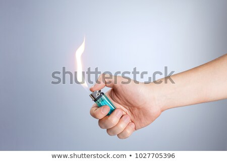Mano encendedor establecer fuego diseno Foto stock © pxhidalgo