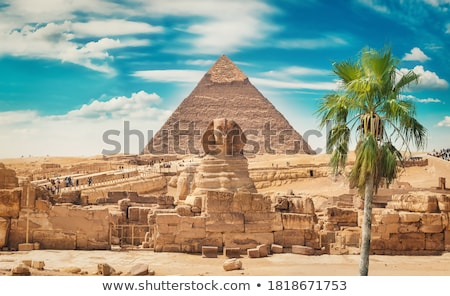 Giza · Piramitleri · Kahire · Mısır · inşaat · Afrika · mimari - stok fotoğraf © mikdam